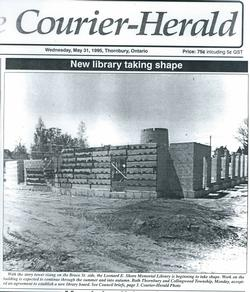 New Library Taking Shape, Thornbury Courier-Herald, Wednesday, May 31, 1995