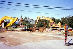 The Depot - Sewer Construction - June 1990