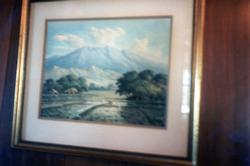 The Depot - Artifact - Photograph of a Mountain Painting