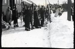 The Depot Station - Skiers Disembarking