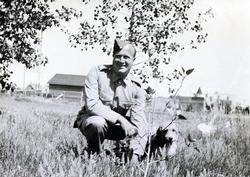 Willard Rorke With his Dog