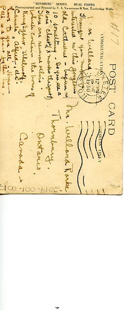 Postcard to Willard Rorke