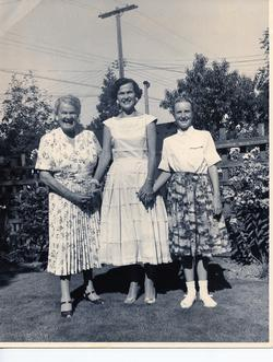 Pearl Rorke, Virginia Rorke Mckim, and Libby Rorke