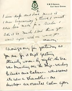Letter from Willard to his mother 7-10-34 (part 3)