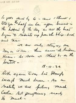 Letter from Willard to his mother 15-10-34 - part 12