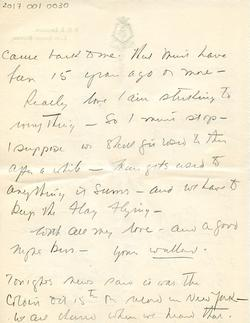 Letter from Willard to his mother 15-10-34 - part 8