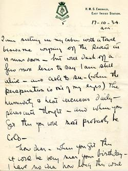 Letter from Willard to his mother 15-10-34 - part 9