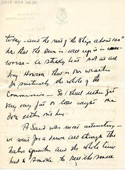 Letter from Willard to his mother 15-10-34 - part 2