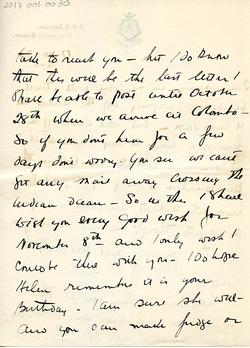 Letter from Willard to his mother 15-10-34 - part 10