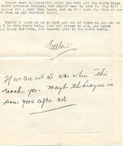 Letter from Willard to his mother - 9-9-35 - part 4