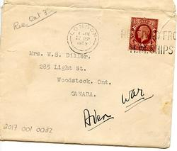 Envelope Containing a Letter from Willard to his Mother - 9-9-35 - Part 5
