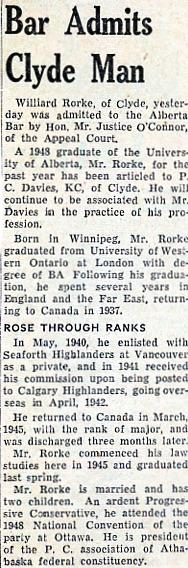 Willard Rorke - Law Society of Alberta -